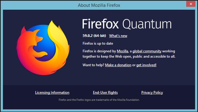 Tải Firefox 59.0.2 64bit, 32bit
