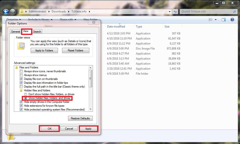 Cách hiện file ẩn trong usb, phần mềm hiện file ẩn do virus
