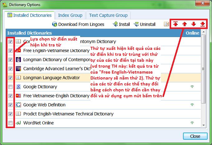 Tải Lingoes 2.9.2 - Phần mềm hỗ trợ học tiếng Anh