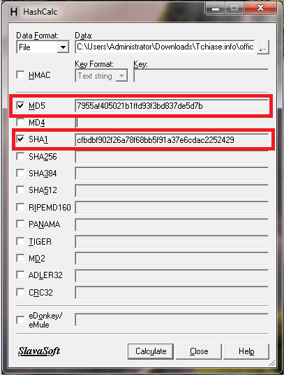 Tải HashCalc kiểm tra mã MD5 và SHA1