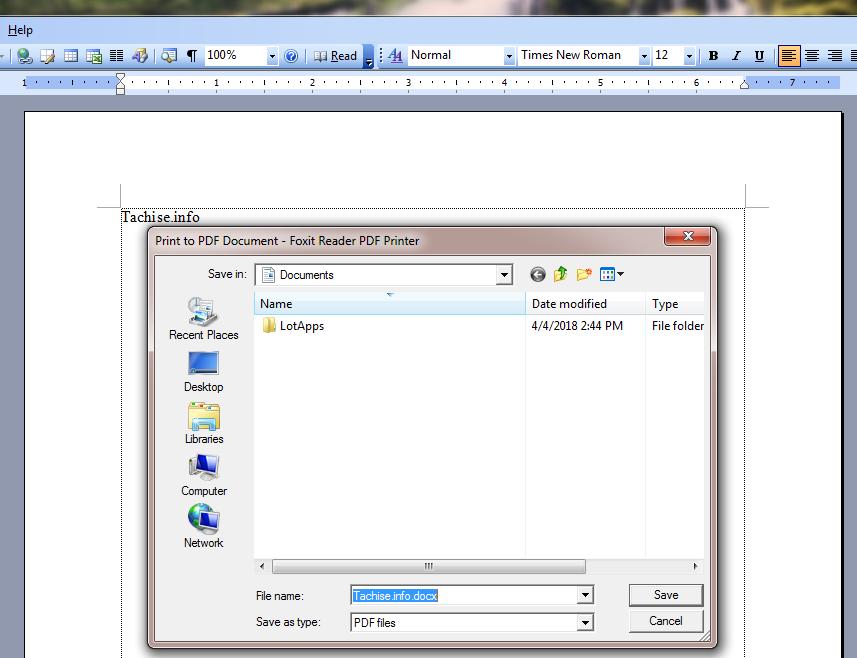 Chuyển file word thành file pdf, chuyển word thành pdf