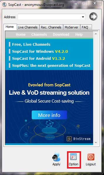 Hướng dẫn sử dụng phần mềm xem bóng đá trực tuyến Sopcast