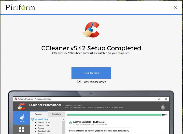 Tải ccleaner 5.42 - Tải phần mềm dọn rác, gỡ cài đặt phần mềm