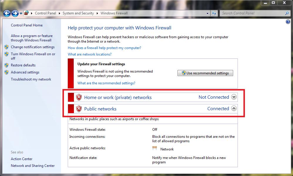 Hướng dẫn bật, tắt tường lửa win 7 - Tắt Windows Firewall win 7
