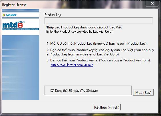 Phần mềm Từ điển Lạc Việt mtd9 - Tải từ điển Lạc Việt mtd9 Eva, phần mềm tra từ điển Anh Việt