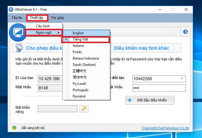 Hướng dẫn cài đặt và sử dụng phần mềm điều khiển máy tính từ xa UltraViewer