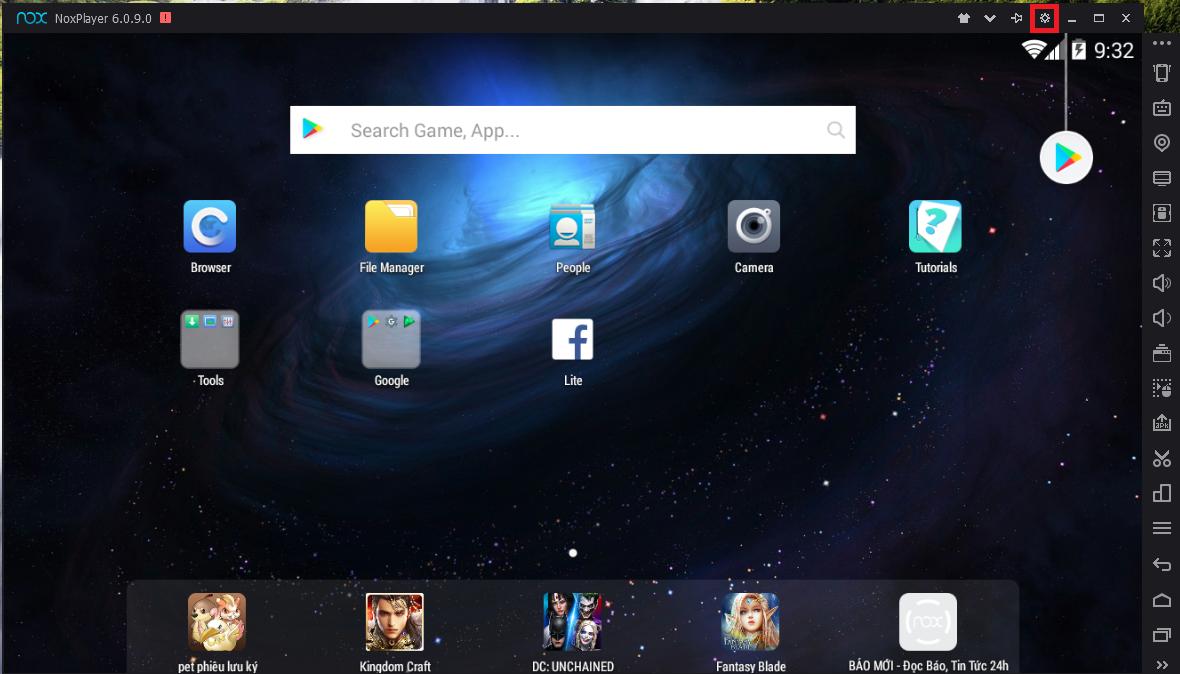 Thiết lập và sử dụng phần mềm giả lập android NoxPlayer 6