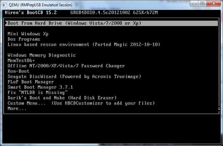 Tải Hiren Boot 15.2 - Tạo usb boot với Hiren boot usb 15.2