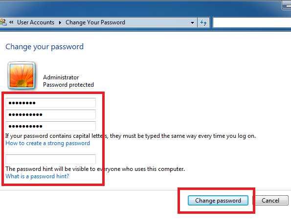 Hướng dẫn cách cài, đổi mật khẩu cho máy tính trên Win 7, 10
