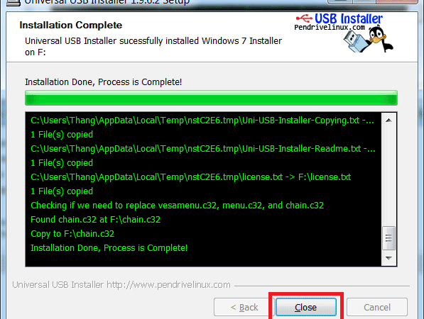 Hướng dẫn cách tạo USB boot nhanh nhất với Universal USB Installer