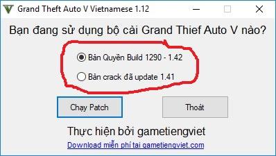Tải Grand Theft Auto V - GTA 5 full crack Việt hóa 2018