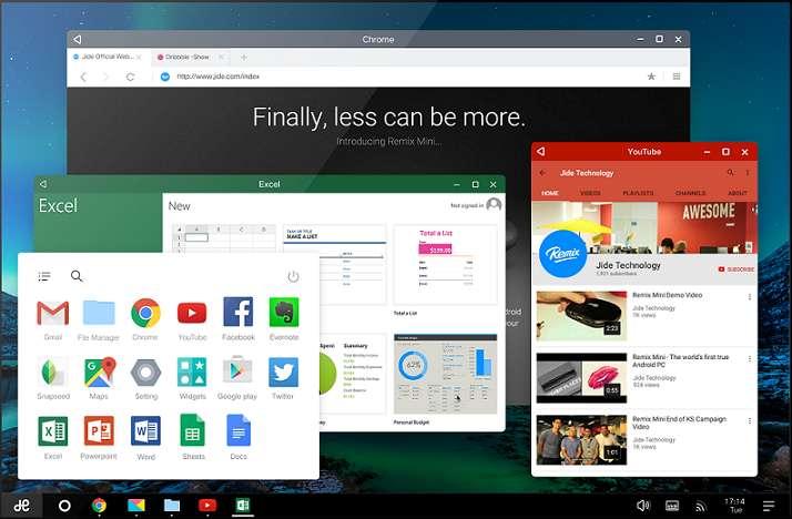 Tải phần mềm giả lập android Remix OS 3.0.207 - Hệ điều hành android trên PC