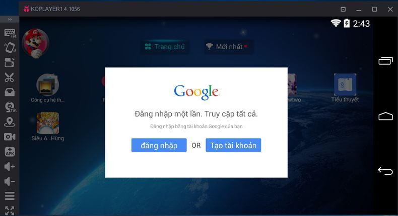 Hướng dẫn sử dụng phần mềm giả lập Android trên PC Koplayer 1.4.1056