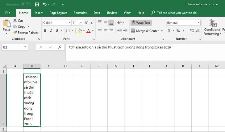 Kỹ năng Excel - Hướng dẫn cách xuống dòng trong Excel, ngắt dòng trong một ô Excel