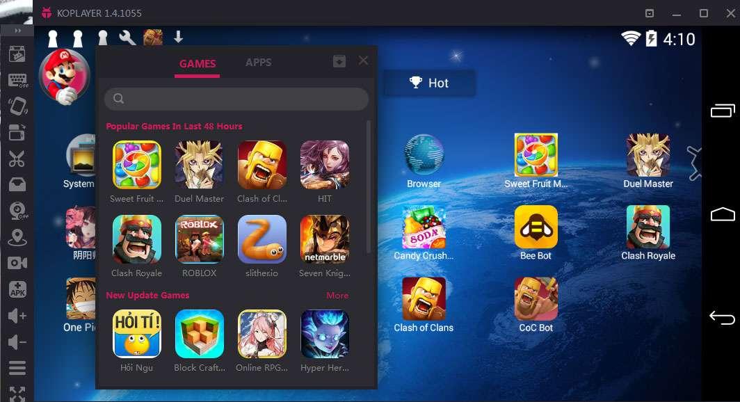 Tải Koplayer 1.4.1056 - Phần mềm giả lập android trên PC miễn phí