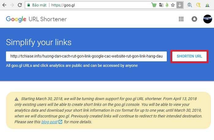 Hướng dẫn cách rút gọn link google - Các website rút gọn link hàng đầu