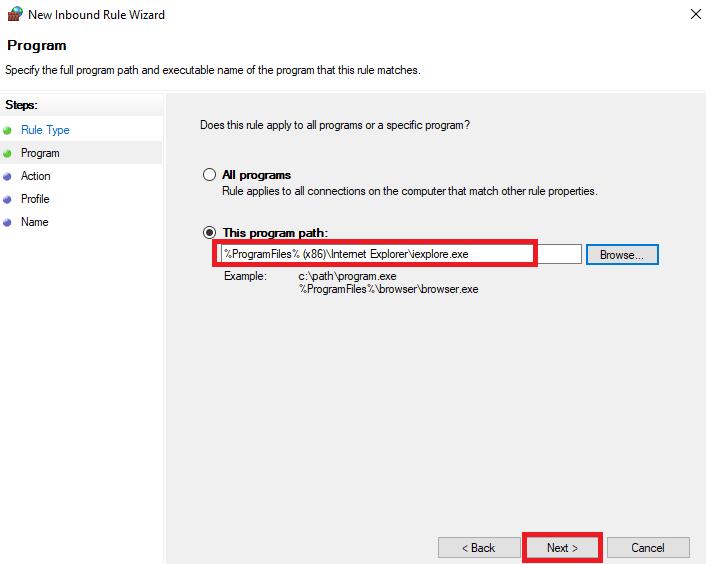 Cách chặn phần mềm kết nối internet bằng Windows Firewall