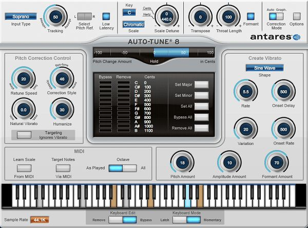 Tải Auto Tune - Phần mềm chỉnh âm thanh, giọng nói Auto Tune 8.1 full