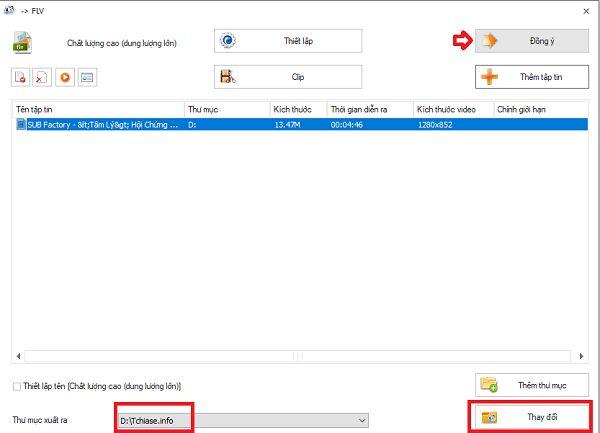 Hướng dẫn sử dụng phần mềm đổi đuôi video Format Factory