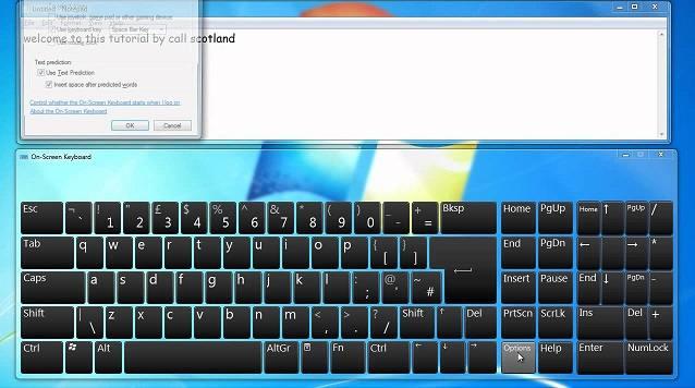Turn on On-Screen Keyboard - Cách mở bàn phím ảo trên máy tính win 7