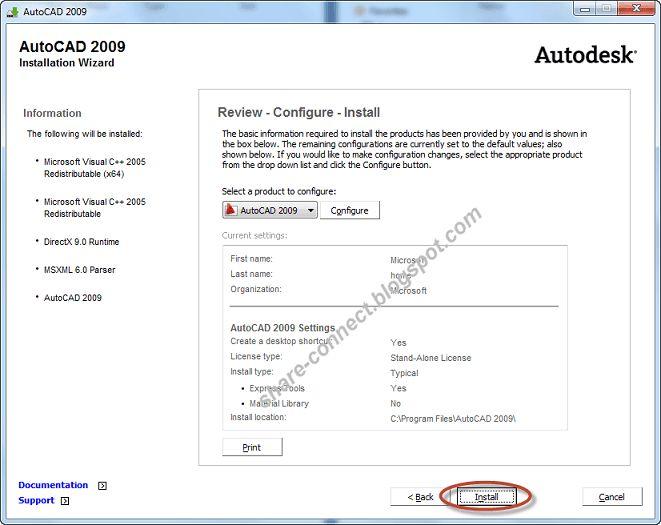 Tải AutoCAD 2009 full crack 32bit + 64bit - Hướng dẫn cài đặt AutoCAD