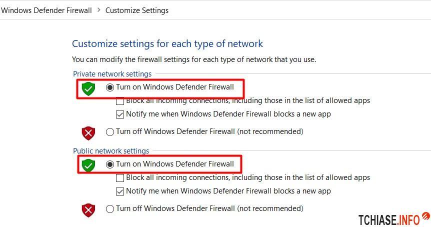 Cách bật tường lửa Firewall trên Win 10