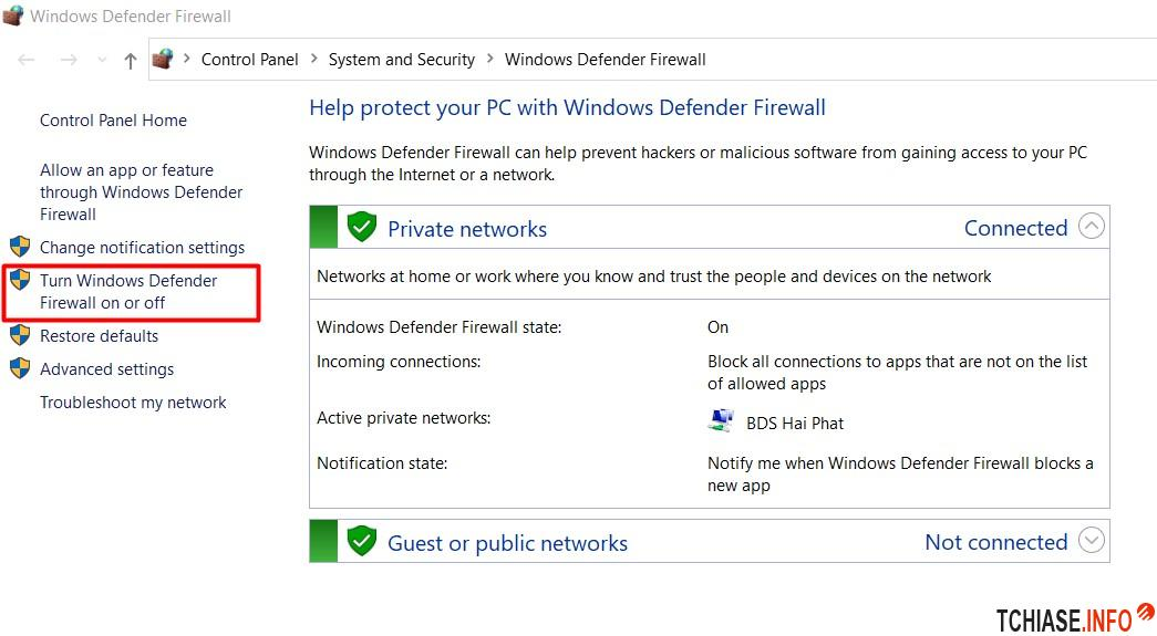 Setting Firewall Win 10