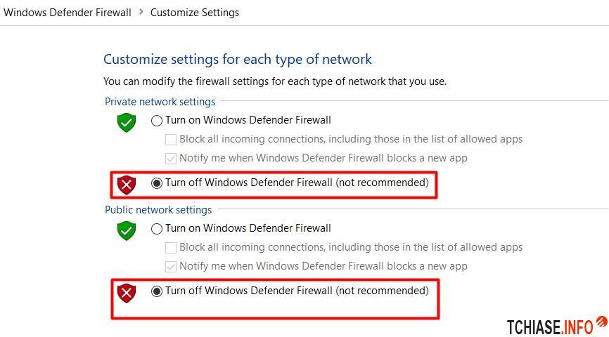 Tắt tường lửa Firewall trên Win 10